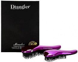Profumi e cosmetici Set di spazzole per capelli - KayPro Dtangler Miraculous Purple (2xbrush)