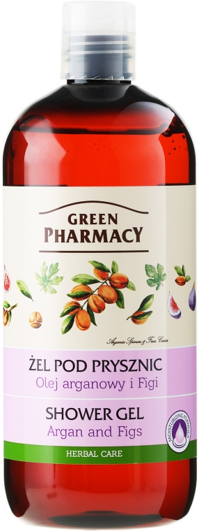 "Gel doccia ""Argan e fico"" - Green Pharmacy"