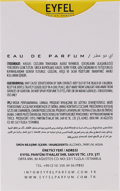 Eyfel Perfum M-1 - Eau de Parfum — foto N3