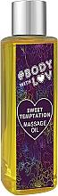 """Profumi e cosmetici Olio da massaggio """"Dolce tentazione"""" - New Anna Cosmetics Body With Luv Massage Oil Sweet Temptation"""
