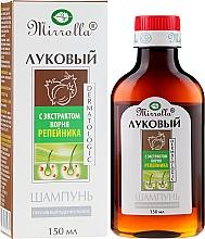 Profumi e cosmetici Shampoo alla cipolla con estratto di radice di bardana - Mirrolla