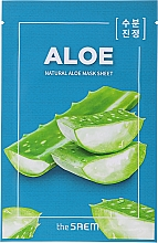 "Profumi e cosmetici Maschera in tessuto ""Aloe"" rilassante - The Saem Natural Skin Fit Relaxing Mask Sheet Aloe"