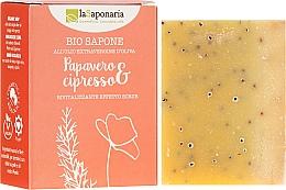 """Profumi e cosmetici Sapone bio """"Papavero e cipresso"""" - La Saponaria Bio Sapone"""