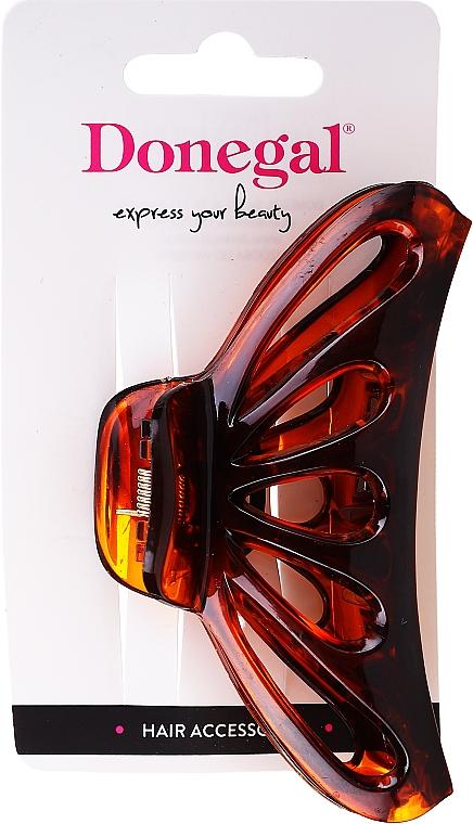 Pinza per capelli FA-5813, grande, colore ambra - Donegal