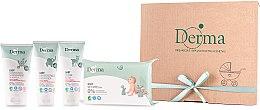 Profumi e cosmetici Set - Derma Eco Baby (cr/100ml+cr/100ml+shm/150ml+wipe/64)
