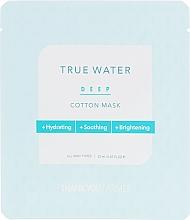 Profumi e cosmetici Maschera in tessuto idratante profonda - Thank You Farmer True Water Deep Cotton Mask