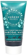 Profumi e cosmetici Maschera al carbone di betulla per la pulizia profonda - Lumene Puhdas Deeply Purifying Birch Charcoal Mask