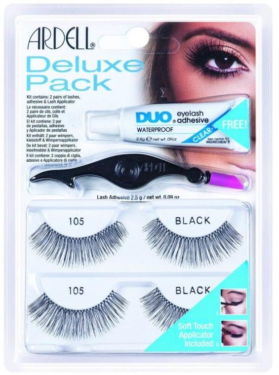 Set ciglia finte - Ardell Eyelash 105 Deluxe Kit Black