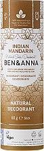 "Profumi e cosmetici Deodorante a base di soda ""Mandarino indiano"" (cartone) - Ben & Anna Natural Soda Deodorant Paper Tube Indian Mandarine"