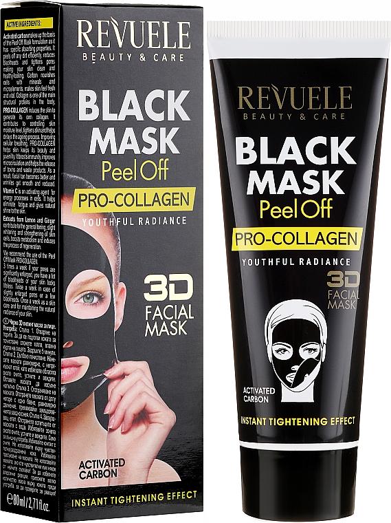 "Maschera viso ""Procollagene"" - Revuele Black Mask Peel Off Pro-Collagen"