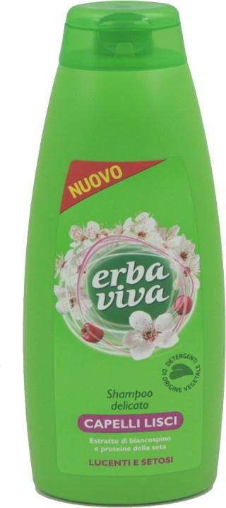 "Shampoo lisciante ""Proteine della seta"" - Erba Viva Shampoo for Straight Hair  — foto N1"