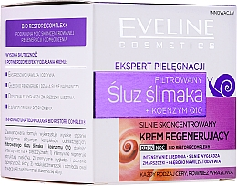Crema viso antietà - Eveline Cosmetics Skin Care Expert Snail Slime Filtrate + Coenzyme Q10 Cream — foto N1