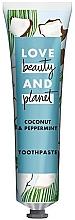 """Profumi e cosmetici Dentifricio """"Cocco e Menta"""" - Love Beauty And Planet Coconut & Peppermint Toothpaste"""