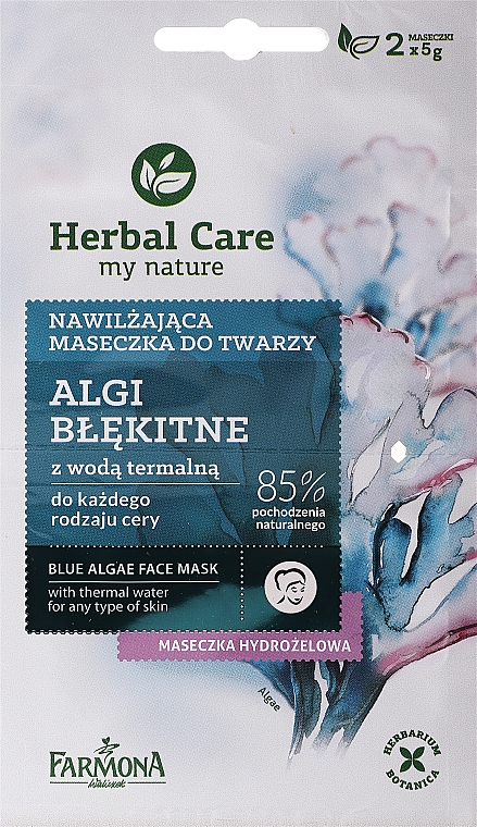 "Maschera viso ""Alghe blu"" - Farmona Herbal Care Blue Algae Face Mask"