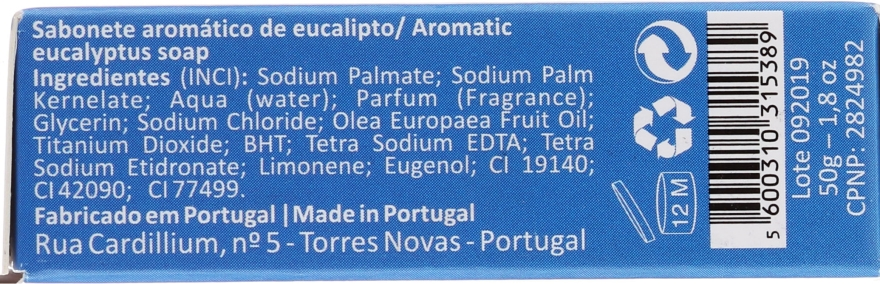 Saponetta naturale all'eucalipto - Essencias De Portugal Living Portugal Sardinhas Eucaliptus — foto N2