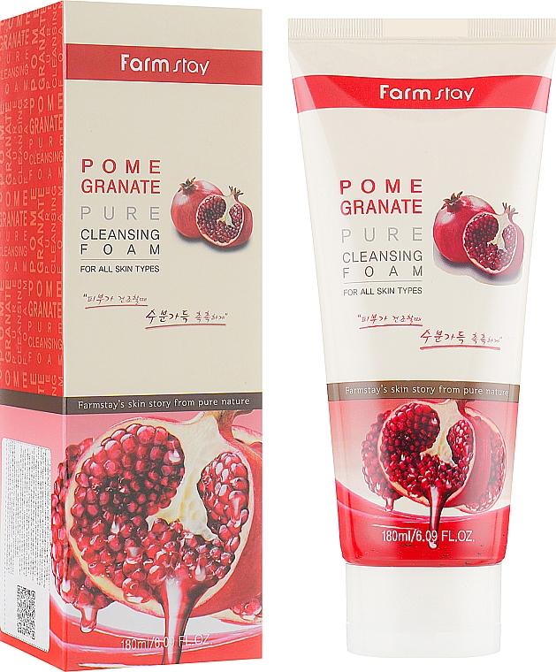 Schiuma detergente al melograno - Farmstay Pomegranate Pure Cleansing Foam
