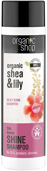 Shampoo nutriente - Organic Shop Organic Shea and Silk Shine Shampoo