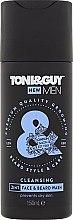 "Profumi e cosmetici Shampoo per barba e baffi ""Idratante"" - Toni & Guy Men Cleansing 2in1 Face & Beard Wash"