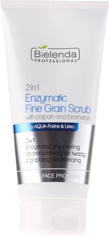 Scrub minerale enzimatico viso 2in1 con papaina e bromelina - Bielenda Professional Face Program 2in1 Enzymatic Fine Grain Scrub — foto N1
