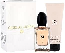 Profumi e cosmetici Giorgio Armani Si - Set (edp/50 ml + b/lot/75ml)