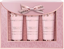 Profumi e cosmetici Set - Baylis & Harding Jojoba, Vanilla & Almond Oil Hand Cream Set (h/cr/50mlx3)