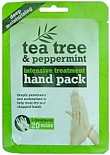 Profumi e cosmetici Maschera mani - Xpel Marketing Ltd Tea Tree & Peppermint Deep Moisturising Hand Pack