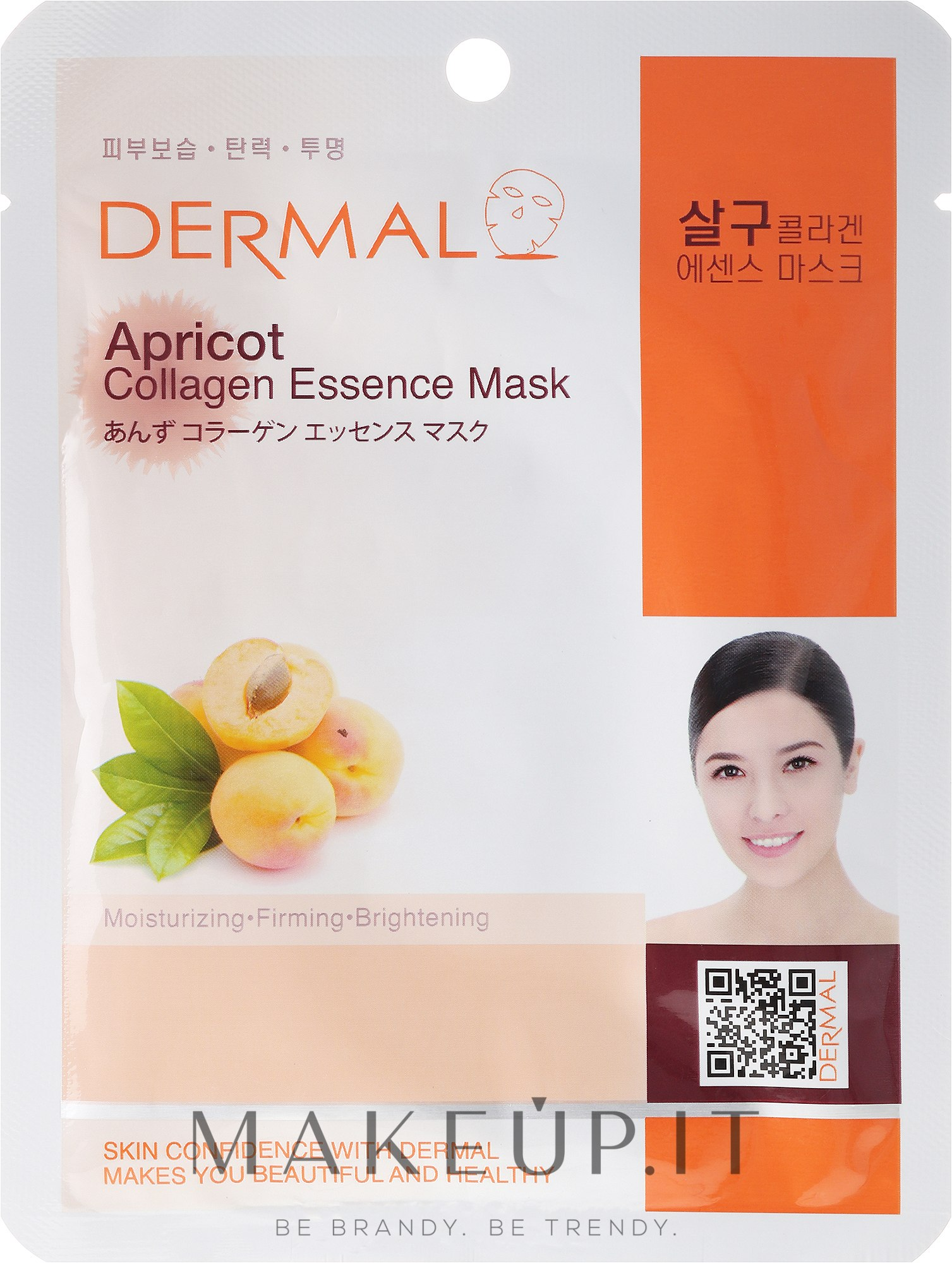 Maschera con collagene e estratto di frutta albicocca - Dermal Apricot Collagen Essence Mask — foto 23 ml