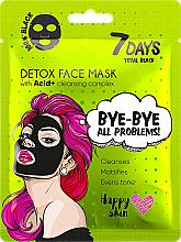 Profumi e cosmetici Maschera viso - 7 Days Total Black Bye bye All Problems Detox Face Mask