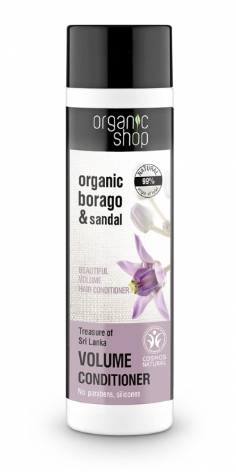 Balsamo per capelli - Organic Shop Organic Sandal and Indian Nut Volume Conditioner