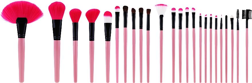 Set di pennelli per il trucco professionale, 24 pezzi, rosa - Tools For Beauty