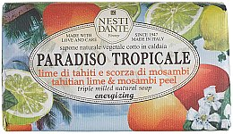 "Profumi e cosmetici Sapone ""Lime e scorza di mosabi"" - Nesti Dante Paradiso Tropicale Tahitian Lime & Mosambi Peel Soap"