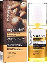 Profumi e cosmetici Olio per capelli all'olio di argan e cheratina - Dr. Sante Argan Hair