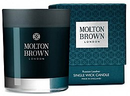Profumi e cosmetici Molton Brown Russian Leather Single Wick Candle - Candela profumata