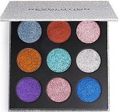 Profumi e cosmetici Palette di ombretti - Makeup Revolution Pressed Glitter Palette Illusion