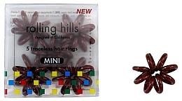 Profumi e cosmetici Elastico per capelli, mini, marrone - Rolling Hills 5 Traceless Hair Rings Mini Brown