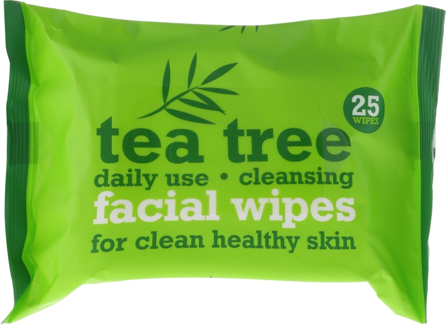 Salviette detergenti viso, 25 pezzi - Xpel Marketing Ltd Tea Tree Facial Wipes For Clean Healthy Skin