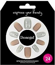 Profumi e cosmetici Set di unghie finte con colla, 3063 - Donegal Express Your Beauty
