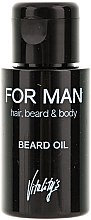 Profumi e cosmetici Olio da barba - Vitality's For Man Beard Oil