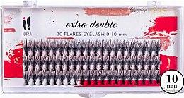Profumi e cosmetici Ciglia finte C 0,1 mm, 10 mm - Ibra Extra Double 20 Flares Eyelash C 10 mm