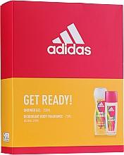 Profumi e cosmetici Adidas Get Ready! For Her - Set (deo/sp/75ml +sh/gel/250ml)