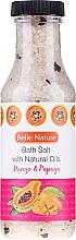 "Profumi e cosmetici Sale da bagno ""Mango e papaia"" - Belle Nature Bath Salt"