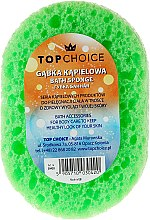 Profumi e cosmetici Spugna da bagno, ovale 30420, bianco-verde - Top Choice