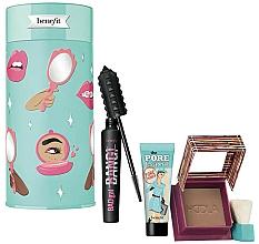 Profumi e cosmetici Set - Benefit BADgal To The Bone Face & Eye Holiday Set (mascara/8.5g + bronzer/8g + primer/7.5ml)