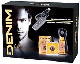 Profumi e cosmetici Set - Denim Gold (sh/gel/250ml + ash/lot/100ml + usb)