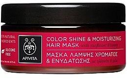 """Profumi e cosmetici Maschera per capelli colorati """"Protezione del colore e idratazione"""" con girasole e miele - Apivita Propoline Color Shine and Moisturizing Hair Mask"""