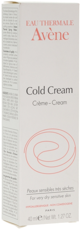 Crema fredda - Avene Peaux Seches Cold Cream