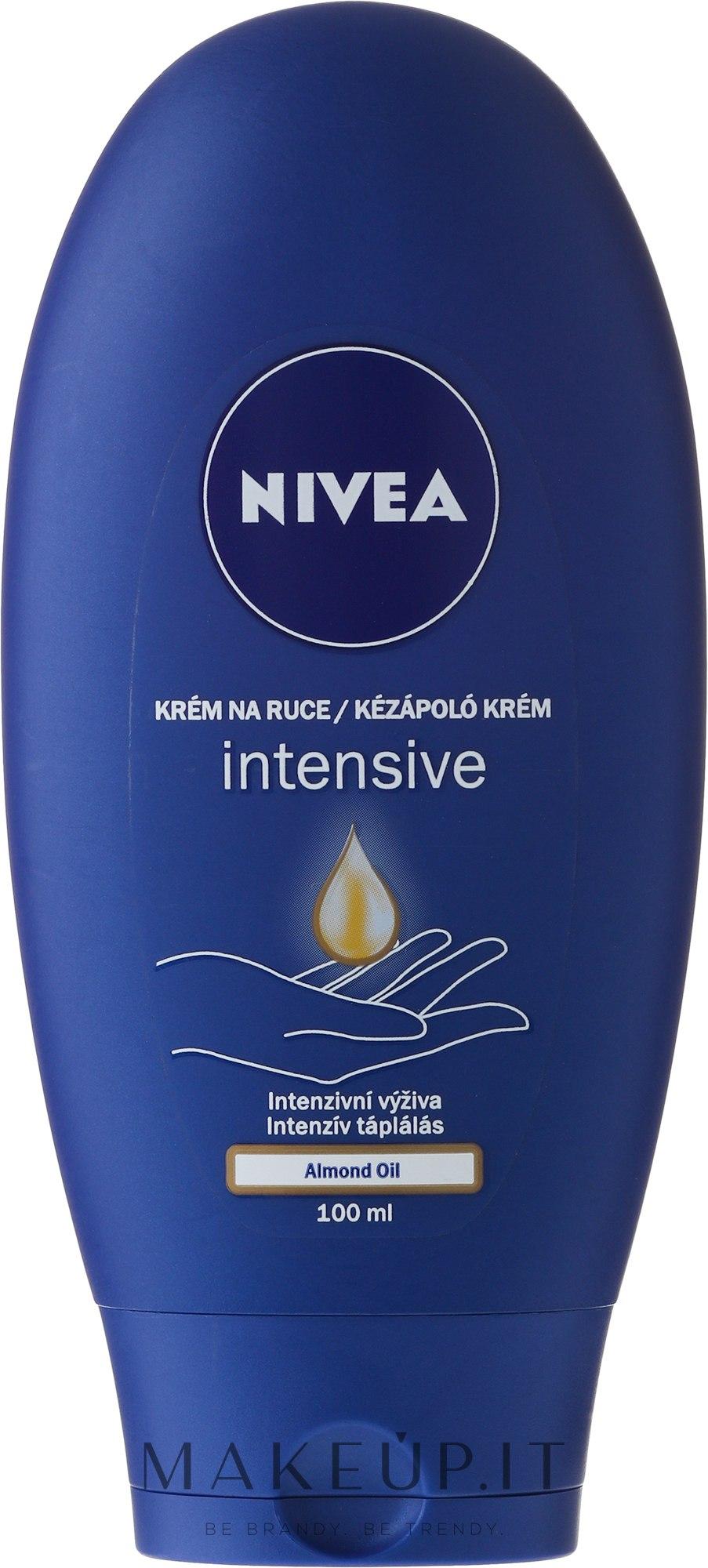 """Crema mani """"Nutrizione e cura"""" con olio di mandorle - Nivea Intensive Care Hand Cream — foto 100 ml"""