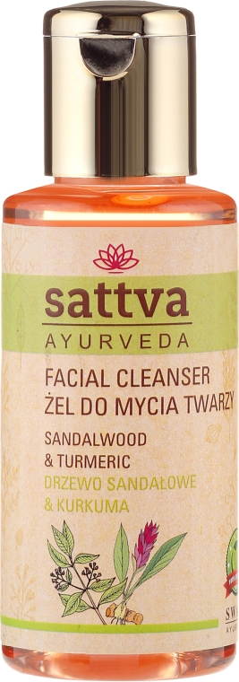 Gel detergente viso - Sattva Facial Cleanser Sandalwood — foto N1