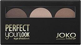 Profumi e cosmetici Ombretto compatto, 3 tonalità - Joko Perfect Your Look Trio Eye Shadows