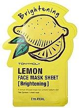 Profumi e cosmetici Maschera in tessuto - Tony Moly I'm Real Lemon Mask Sheet